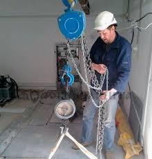 Испытание монтажных петель в лифте